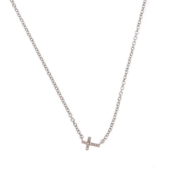 Extra Small Silver Cross Necklace