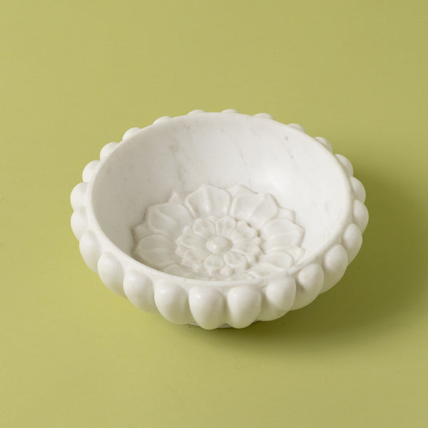 Marble Inset Lotus Ridge Bowl