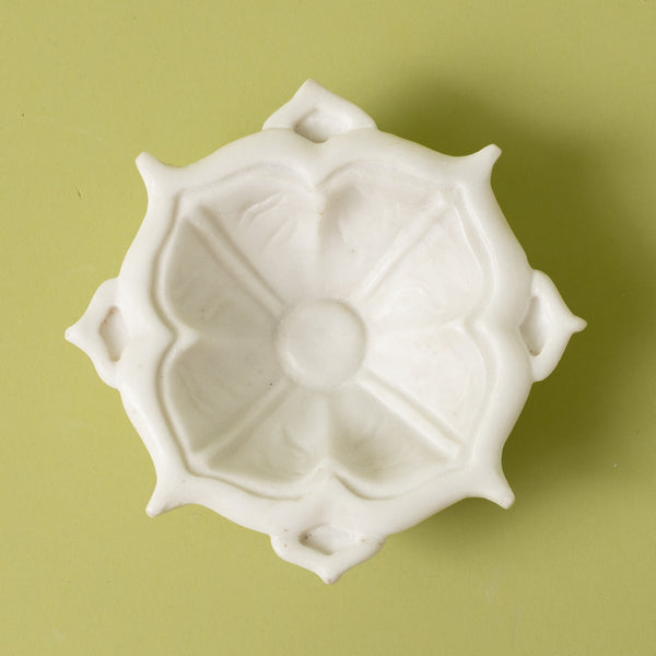 Marble Pointed Petals Bowl