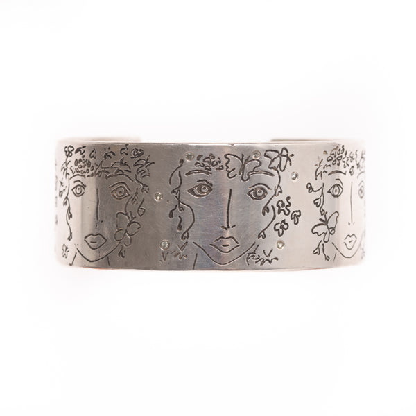 Many Faces Silver Bracelet