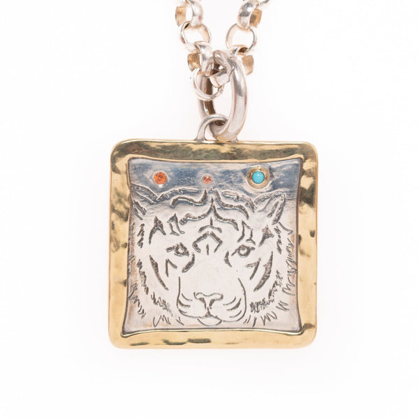 Tiger Face Pendant