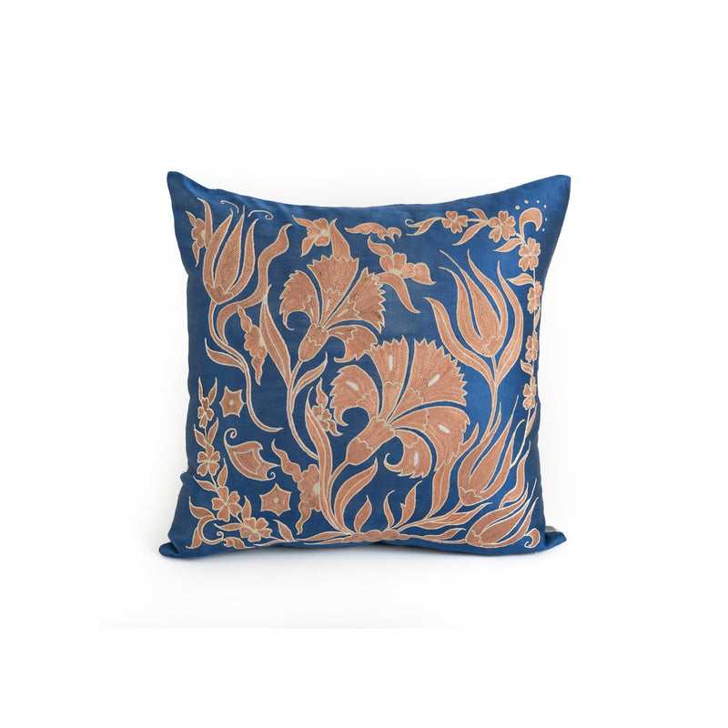 Uzbekistan Pillow Small - Blue Pink Floral
