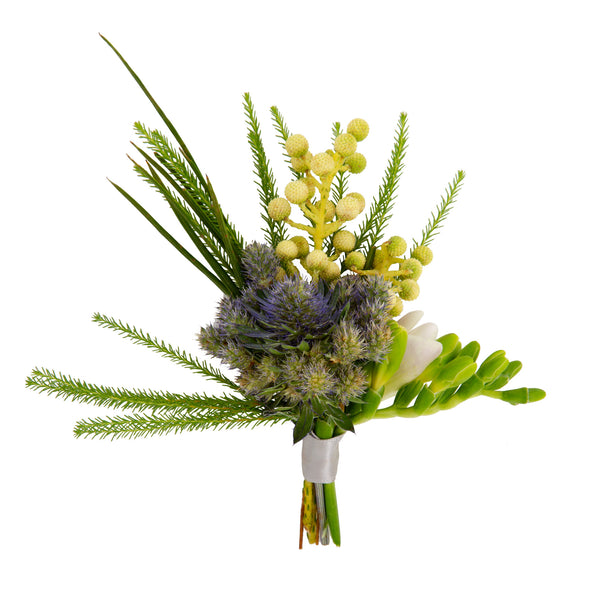 Modern Earth Boutonniere