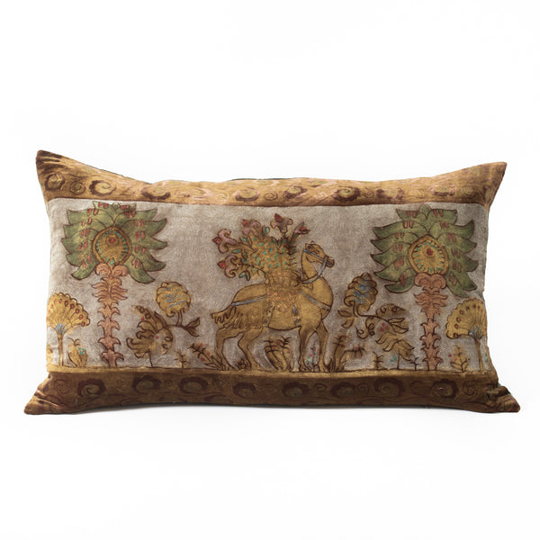 Velvet Camel Pillow