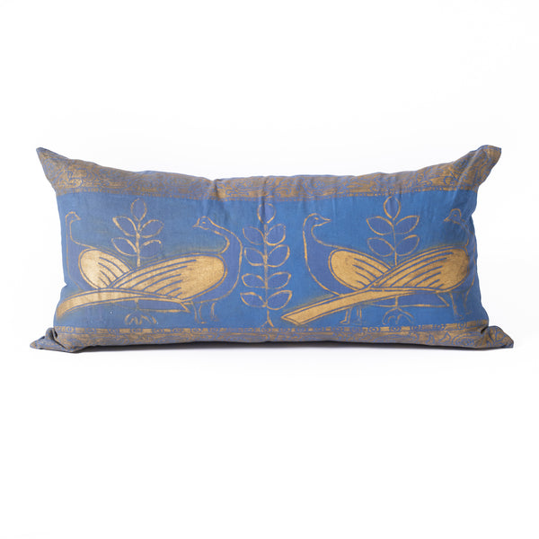 Linen Lapwing Birds Pillow - Large