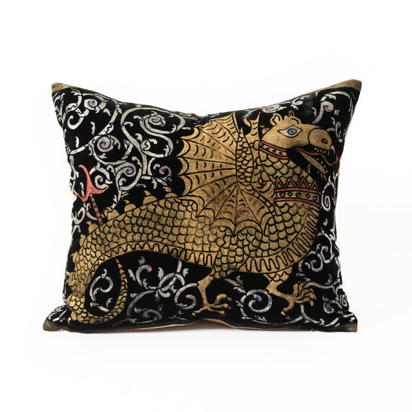 Velvet Dragon Pillow