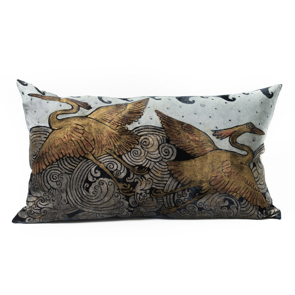 Velvet Heron Pillow