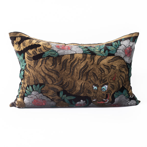 Velvet Tibetan Tiger Pillow