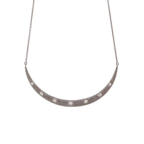Diamond Crescent Bib Necklace