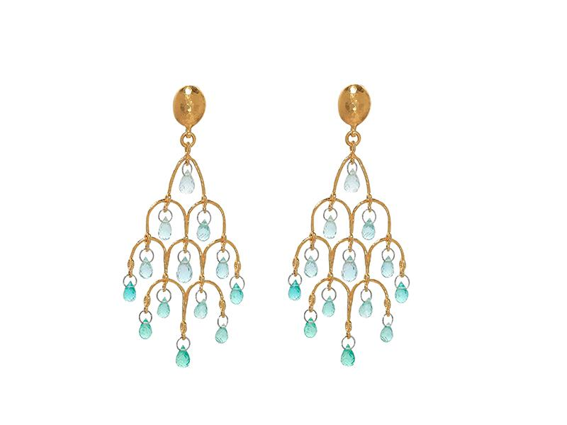 Delicate Dew Chandelier Earrings