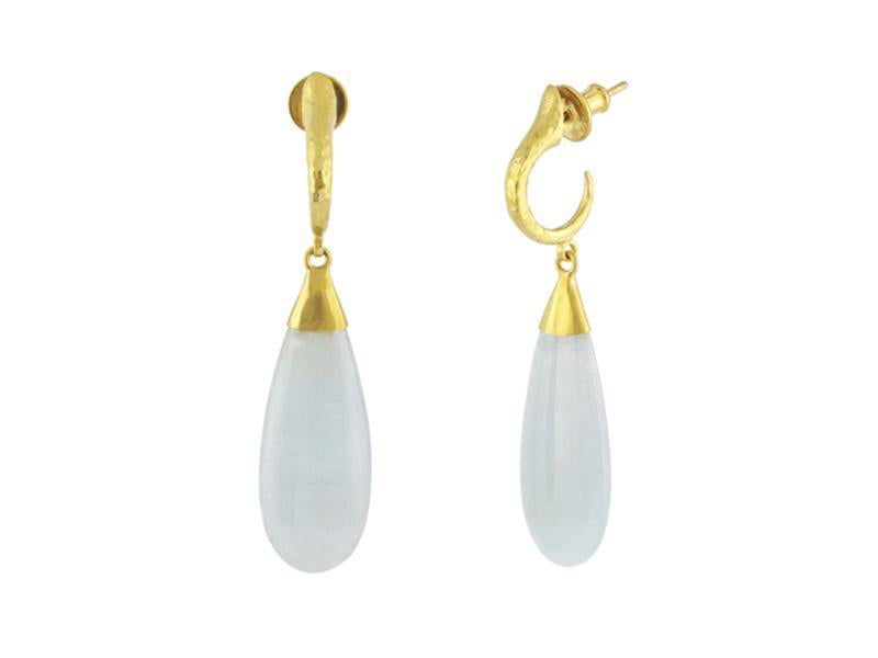 Candy Splash Rune Aquamarine Drop Earrings