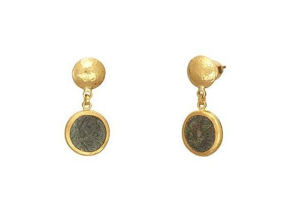 Antiquities Roman Coin Double Drop Earrings
