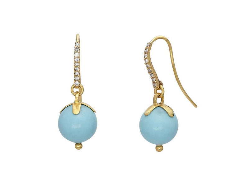 Spell Gold Turquoise Drop Earrings