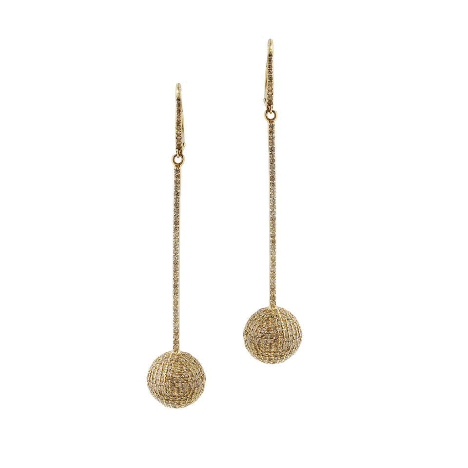 Pave Diamond Sphere Earrings