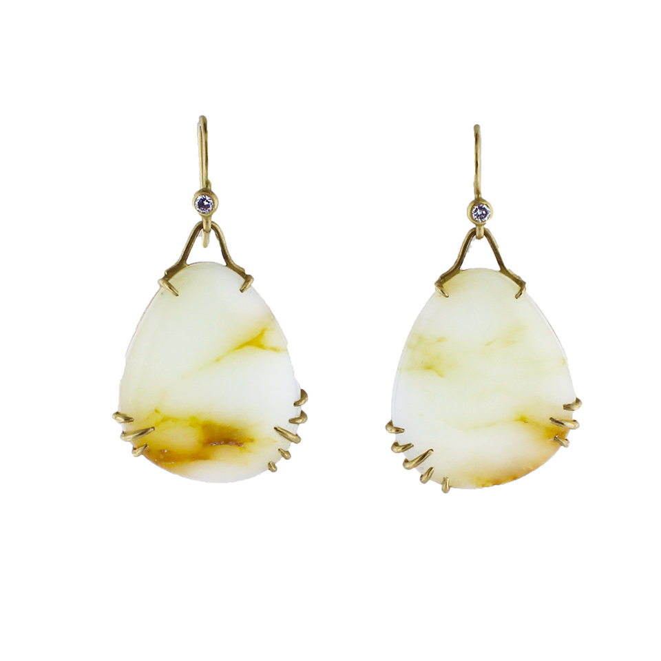 Peruvian Opal Vanity Earrings