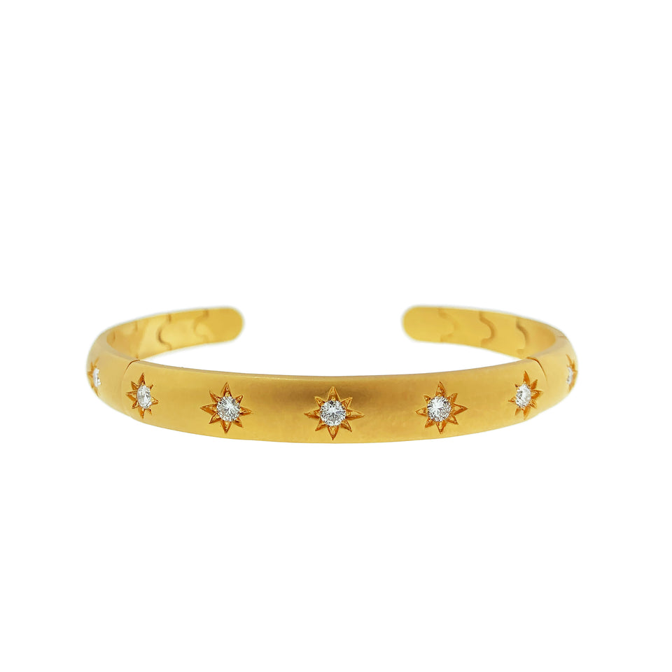 Starburst Diamond 14k Gold Bracelet