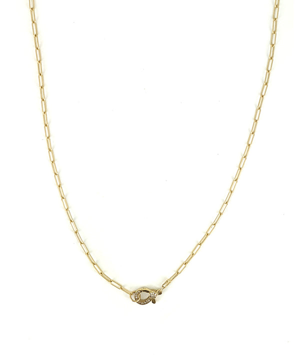 Petite Gold Diamond Clasp Chain