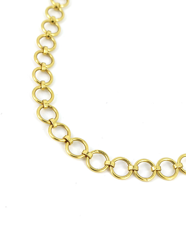 18K Gold Medium Loop 18'' Chain