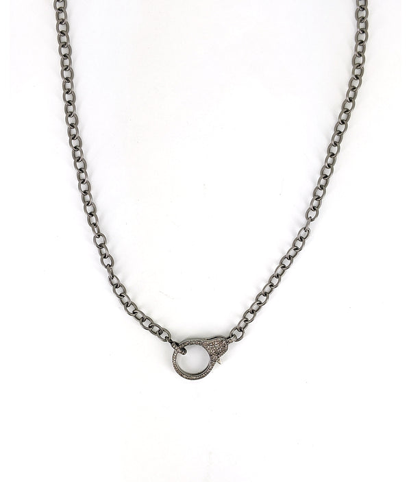 Fine Chain with Pave Diamond Clasp