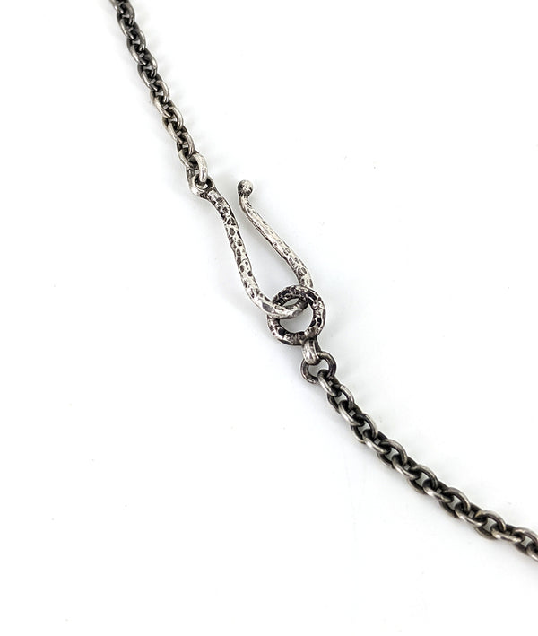 Oxidized Silver Chain with Hook Clasp