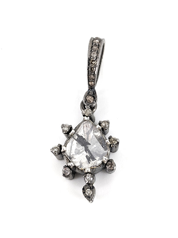 Polki Pear Diamond Pendant