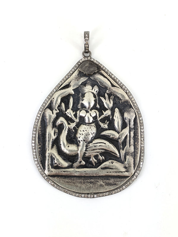 Pear Shaped Pave Diamond Deity Pendant
