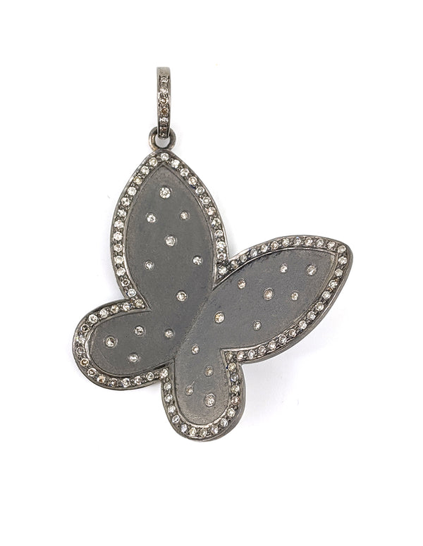 Polka Dot Diamond Butterfly Pendant