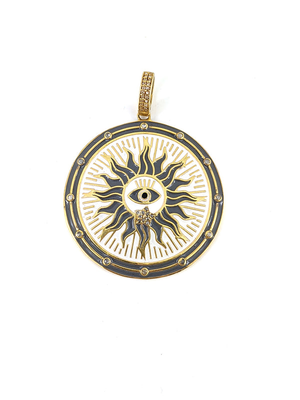 All Seeing Eye of Horus Enamel Pendant