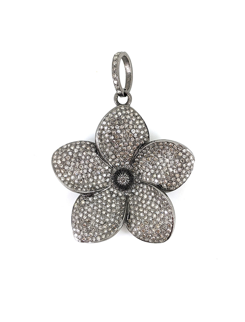 Diamond Frangipani Flower Pendant