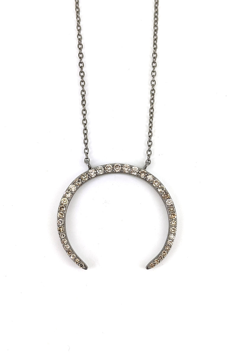 Hanging Silver Arc Necklace
