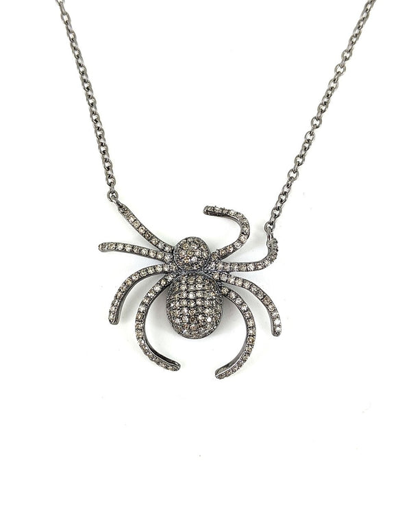 Crawling Spider Necklace