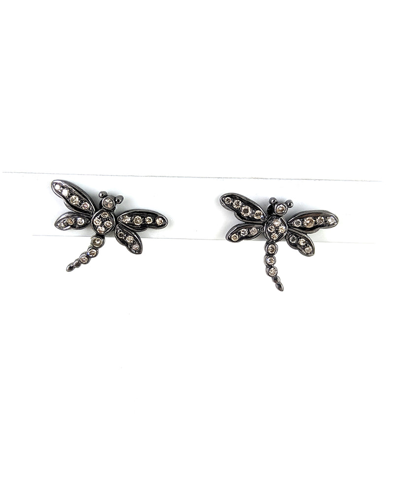 Diamond Dragonfly Earrings