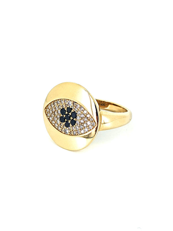Black Diamond Eye Ring