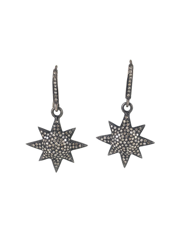 Sun Pave Diamond Earrings