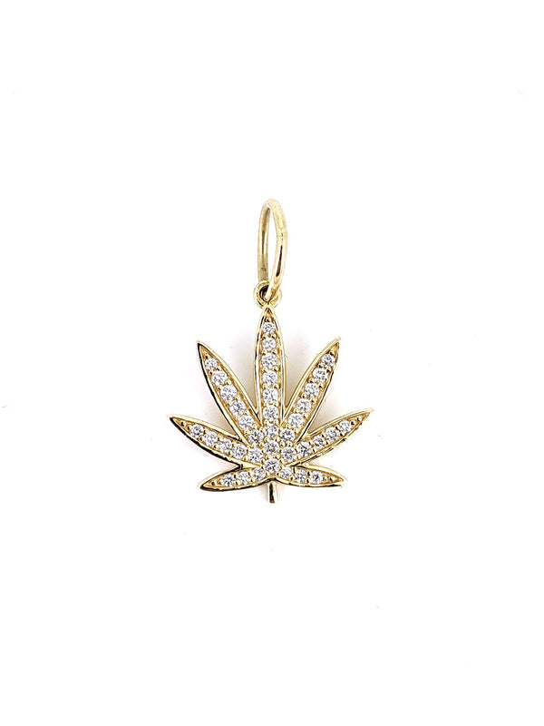 Pave Gold Colorado Flower Pendant