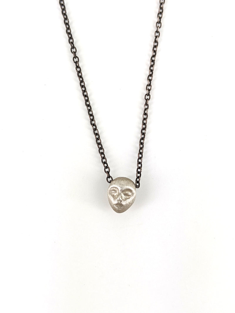 Little grey lady cameo necklace