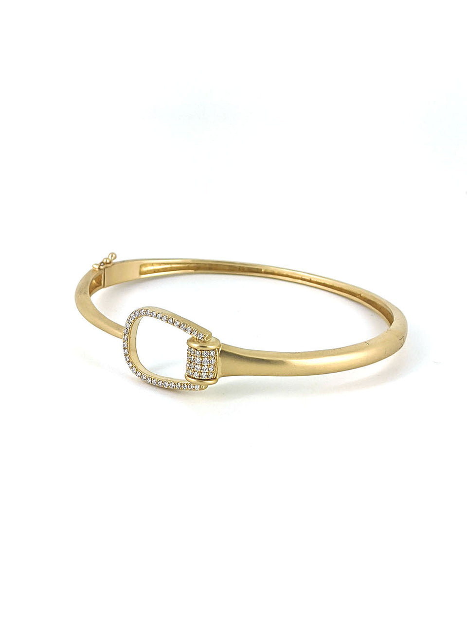 Gold and Diamond Horsebit Bracelet