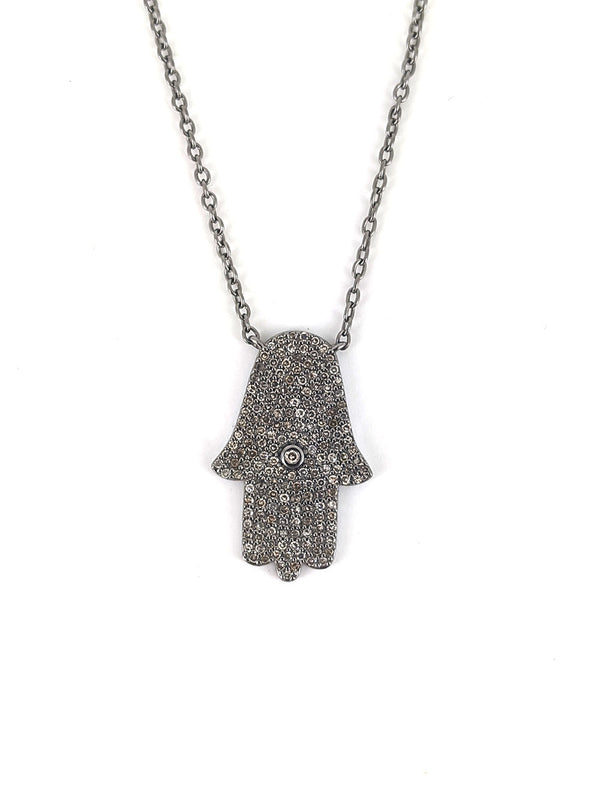 Diamond Hamsa Hand Necklace