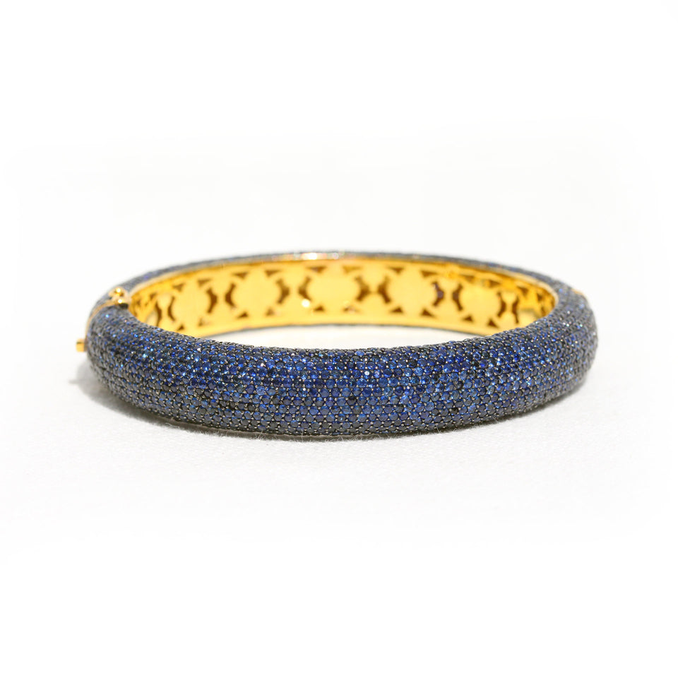 Pave Gemstone Bracelet with 18k Gold
