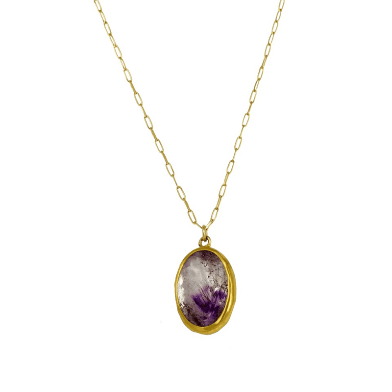 22k Gold Amethyst Necklace