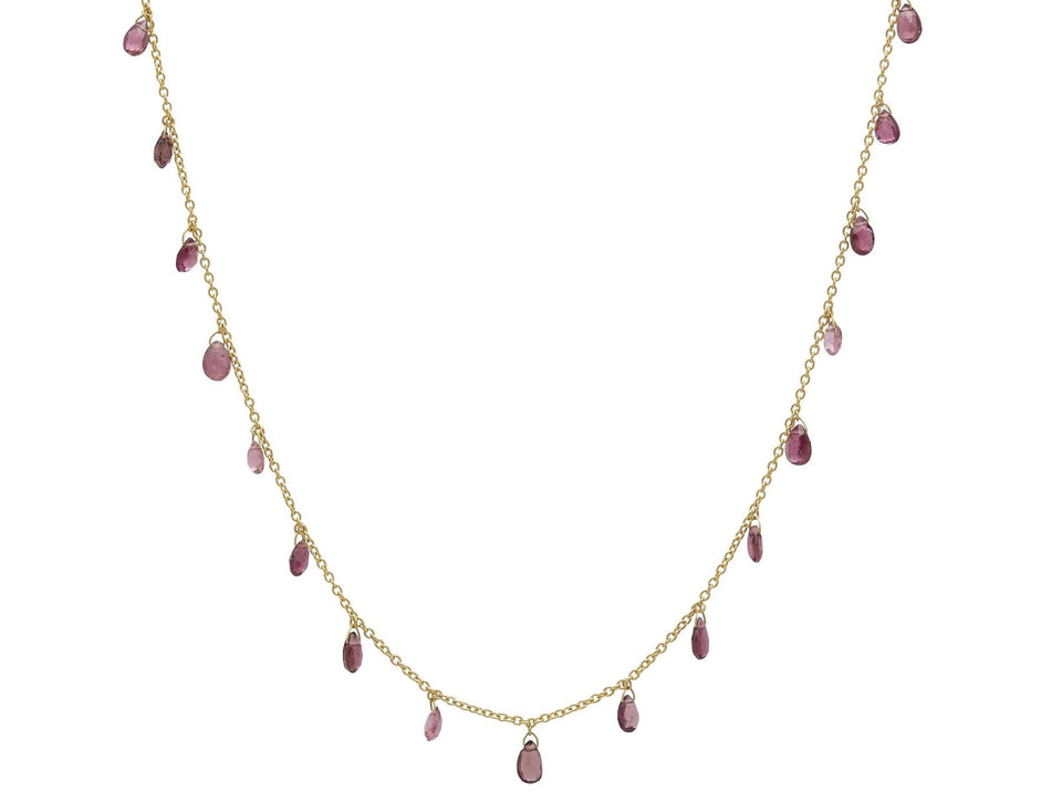 Delicate Dew Pink Tourmaline Necklace