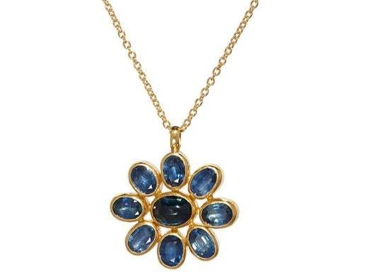 One of a Kind Sapphire Pendant Necklace