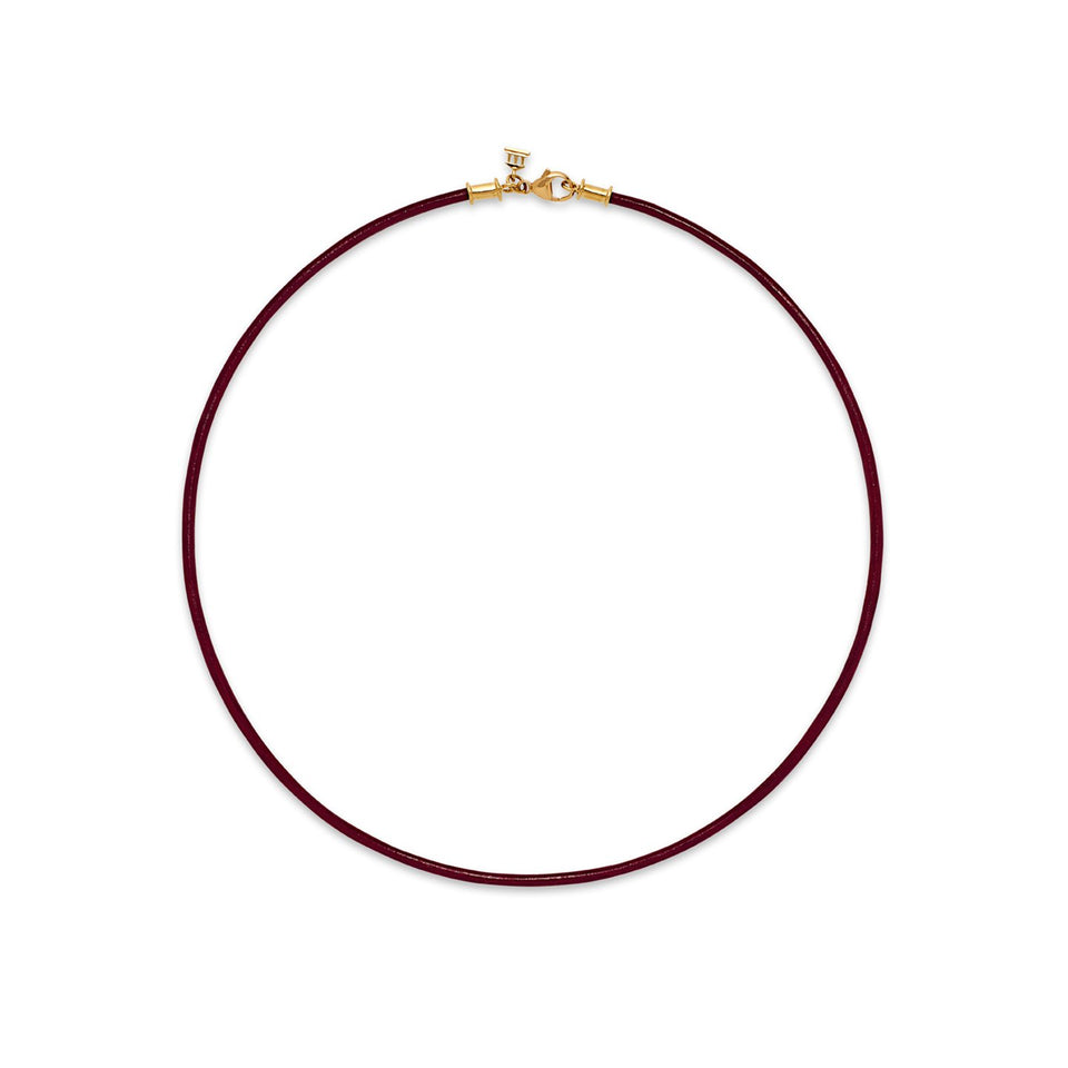 "18K 18"" Short Leather Cord - Multiple Colors Available"