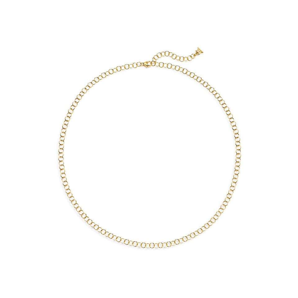 18K Small Round Chain - Multiple Sizes Available