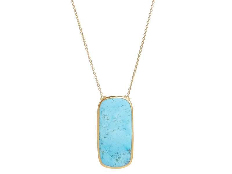 Turquoise Rune Gold Necklace