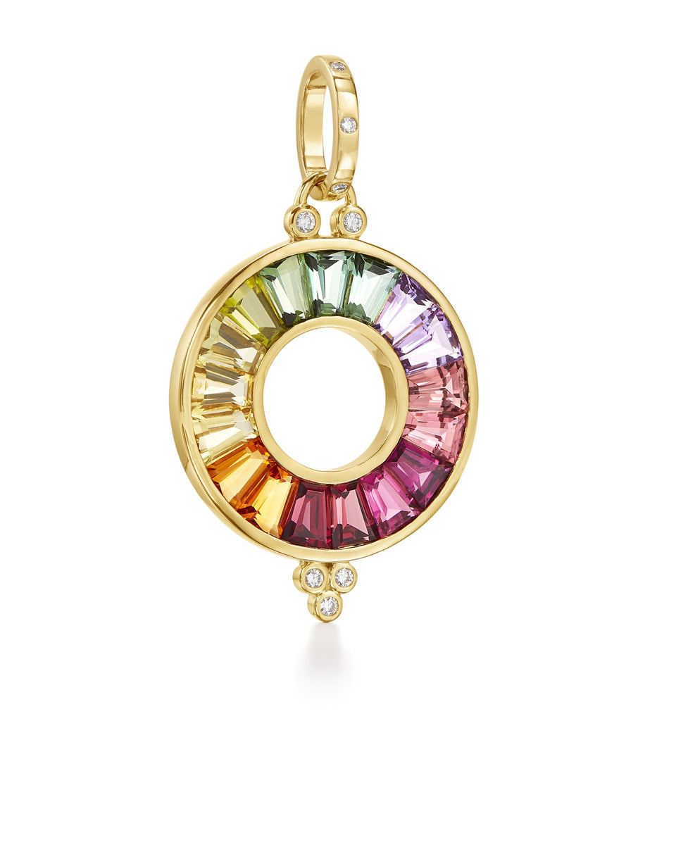 18K Large Color Wheel Pendant