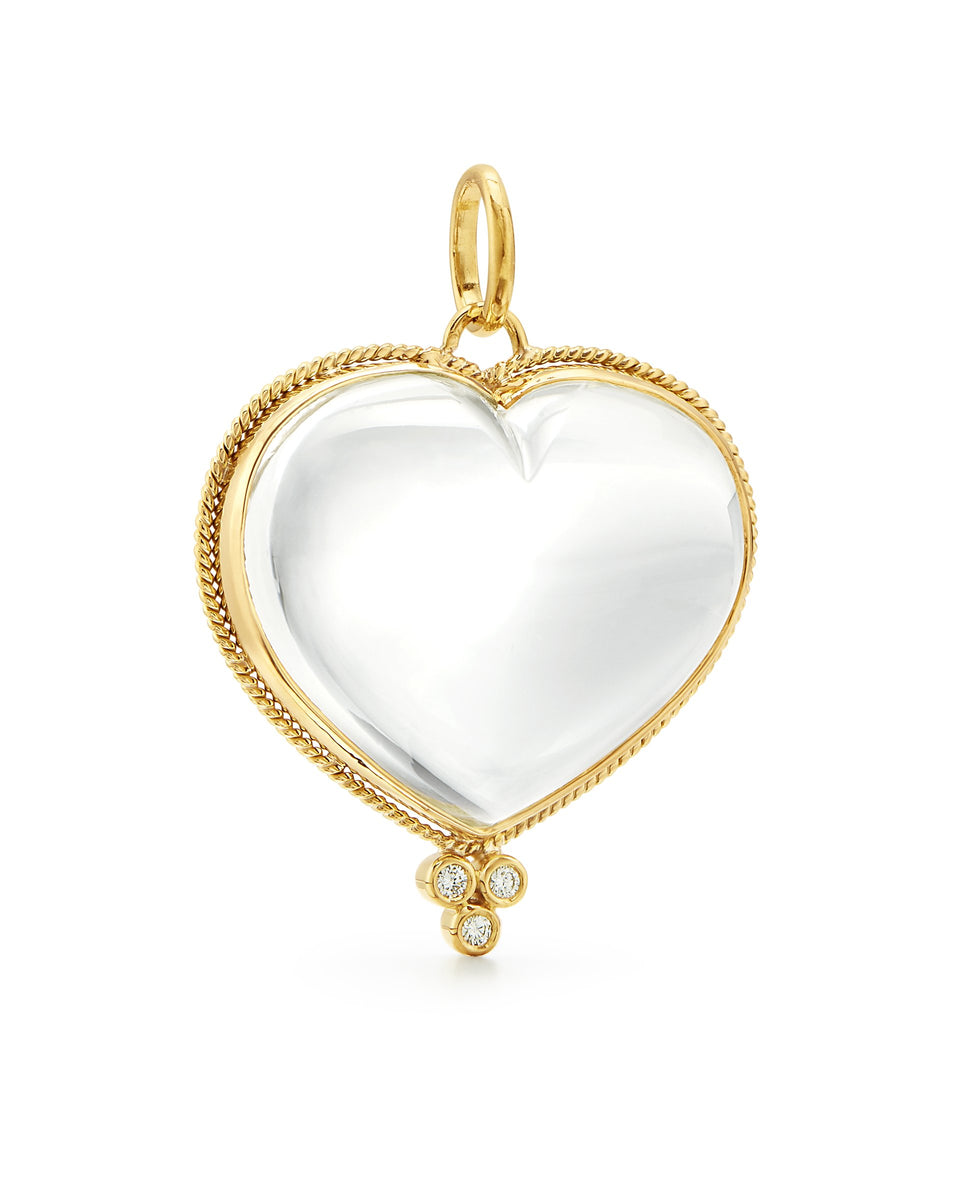 18K Braided Heart Pendant - 27mm