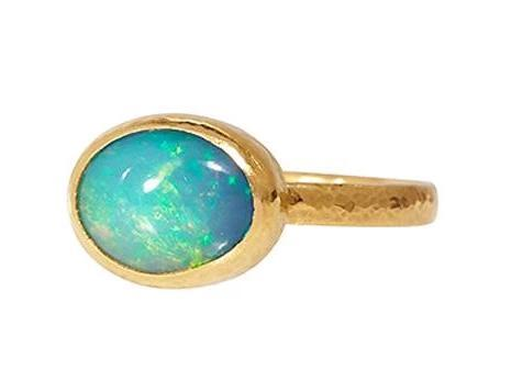 Oval Opal Cabochon Ring