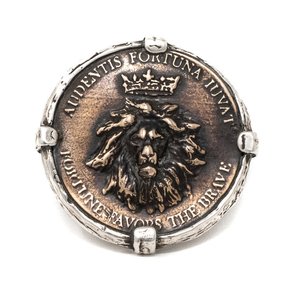 King Lion Statement Coin Ring