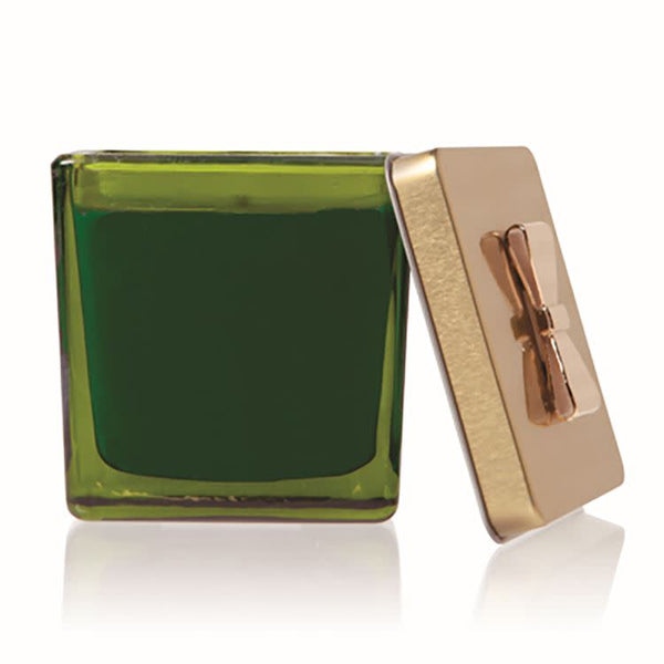 Frasier Fir Novelty Green Glass Gift Box Candle - 7.5 oz